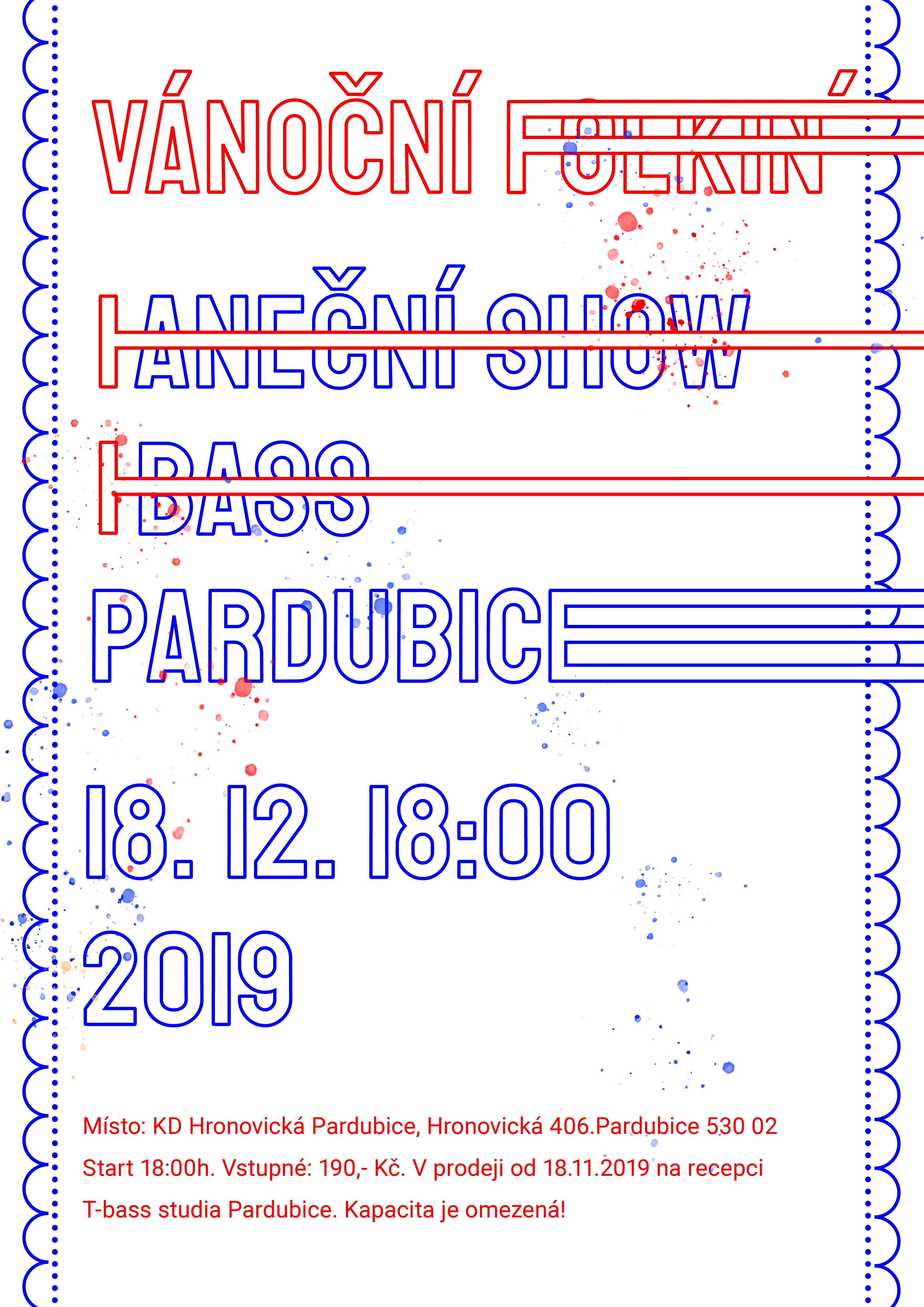 Vánoční show T-BASS Pardubice 2019 – Vánoční FOLKIN´